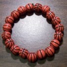 "Acrylic Basketball Sports Stretch Bracelet 7.25"" Made in U.S.A."