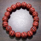 "Acrylic Basketball Sports Stretch Bracelet 7"" Made in the U.S.A."