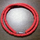 "Tribal Orange Camel Bone Necklace 18"" Made in the U.S.A."