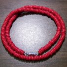 "Tribal Red Camel Bone Necklace 18"" Made in the U.S.A."