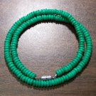 "Tribal Green Camel Bone Necklace 16"" Made in the U.S.A."