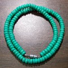"Tribal Light Green Camel Bone Necklace 16"" Made in U.S.A."