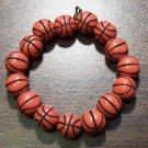 "Acrylic Basketball Sports Stretch Bracelet 5.5"" Made in U.S.A."