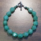 "1g Green Aventurine Natural Stone Bracelet 7"" Made in U.S.A."