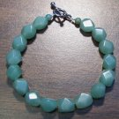 "2g Green Aventurine Natural Stone Bracelet 7"" Made in U.S.A."