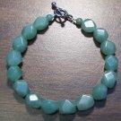 """2g Green Aventurine Natural Stone Bracelet 7"""" Made in U.S.A."""
