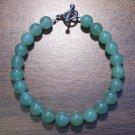 """3g Green Aventurine Natural Stone Bracelet 7"""" Made in U.S.A."""