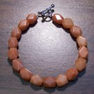 "1r Red Aventurine Natural Stone Bracelet 6.9"" Made in U.S.A."