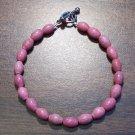 "pr1 Rhodonite Natural Stone Bracelet 7.5"" Made in the U.S.A."
