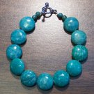 "ra1 Russian Amazonite Natural Stone Bracelet 7"" U.S.A."