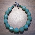 "4g Green Aventurine Natural Stone Bracelet 7"" Made in U.S.A."