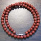 "Red Jasper Natural Stone 17"" Necklace Made in the U.S.A."