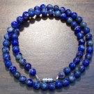"Lapis Lazuli Natural Stone 16"" Necklace Made in the U.S.A."