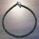 "Jade Natural Stone 9.5"" Anklet Made in the U.S.A."