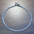 "Faceted Quartz Natural Stone 9.5"" Anklet Made in the U.S.A."