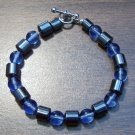 "Light Blue Czech Glass & Magnetic Hemalyke 6.9"" Bracelet"