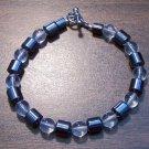 """Clear Czech Glass & Magnetic Hemalyke 7.5"""" Bracelet U.S.A."""