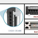 12 Port Cat 5e Cat5e 110 Vertical Wall Mount Patch Panel with Bracket