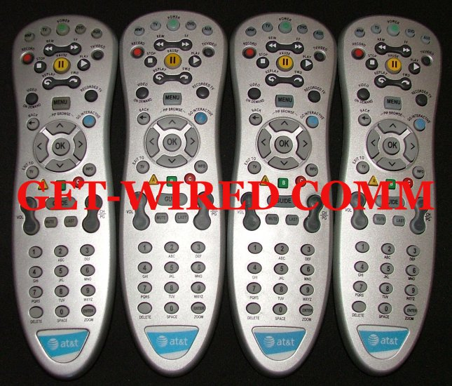 Four (Qty. 4) AT&T U-verse Universal Remote Control OEM Replacement Att Uverse