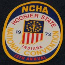 Vintage 1972 NCHA Hoosier State Indiana 13th Annual National Convention Sticker