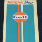 Vintage 1971 Gulf Oil Illinois & Indiana Tourguide Road Transportation Map