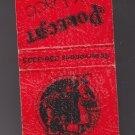 "Polecat & Lace Saloon Restaraunt ""Spirits & Vittles"" Red Black Raised Matchbook"