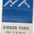 Vintage Retro 1976 Edison Ford Missouri Thunderbird Pinto Granada Matchbook
