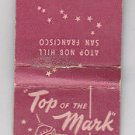 Vintage Retro Pink Top Of The Mark Hotel atop Nob Hill Hopkins Matchbook