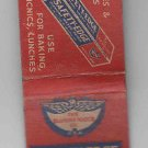 Vintage Retro Safety-Edge Diamond Wax Paper Diamond Match Company Matchbook