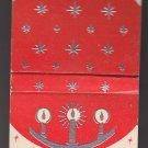 Vintage Season's Greetings Raised Candles Snowflakes Christmas Holiday Matchbook