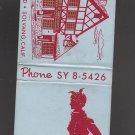 Vtg Bit O' Denmark Solvang California Phone SY8-5426 Graphic Designs Matchbook