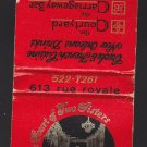 Vtg The Court of Two Sisters Restaraunt 613 Rue Royale Old New Orleans Matchbook