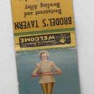 Vintage Retro Pinup Pin-up Girl Nurse 'Doctor's Orders' Racine Bowling Matchbook