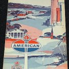Vintage 1965 American Oil Co. Ohio State Highway Road Transportation Map