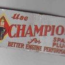 Vintage Retro Champion Spark Plus Better Engine Performance Very Good+ Matchbook