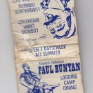 Vintage Tonne's Fabulous Paul Bunyan Logging Camp Dining Wisconsin Matchbook