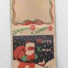 Vintage Santa Claus Christmas Xmas New Year Season's Greetings Holiday Matchbook