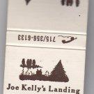 Retro Joe Kelly's Landing Woodruff WI Camping Forest Style Design Matchbook