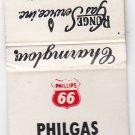 Vintage Phillips Gasoline The All Purpose L.P. Fuel Runge Gas Service Matchbook