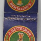 Vintage Retro A. Gettelman Milwaukee Beer Brewing Co Wisconsin Matchbook