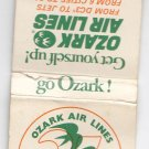 Vtg 1975 Ozark Air Lines Airlines Silver Anniversary 1950-1975 Matchbook Cover