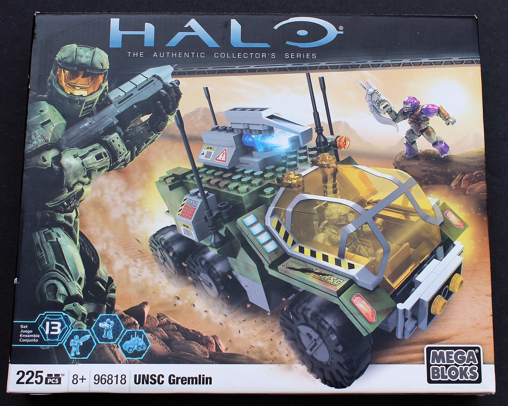 NIB Halo UNSC Gremlin Mega Bloks #96818 - 225 pcs Collector's Series XBox