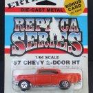 Vtg ERTL 1957 57 Chevy 2-Door HT Orange #1911 Die-Cast Replica Cars of 50's NOC