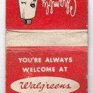 Vtg Walgreens & Walgreen Agency Drug Stores Chambly Milk Bath Ad Matchbook Cover