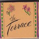 Vtg 70's The Gallery The Terrace Flower Print Design Matchbox Matchbook Cover