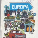 Vtg 1971 Europa Scandinavia Avis BP London State Highway Road Transportation Map