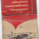 Vtg Universal Engineering Company Frankenmuth Michigan MI Tools Matchbook Cover
