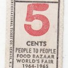 Vtg People To People Food Bazaar NY World's Fair Admission Tickets x3 1964 1965