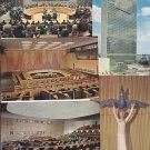 Vtg United Nations UN New York Set of 5 Postcards 1965 1960's 60's *Unused*