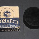 Vtg One Monarch Hockey Puck Official w Original Box